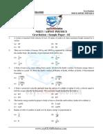 NEET AIPMT Gravitation Sample Paper 02