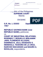 Republic Savings Bank vs. CIR