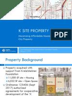 K Site Presentation to Seattle City Council — Feb. 7, 2018