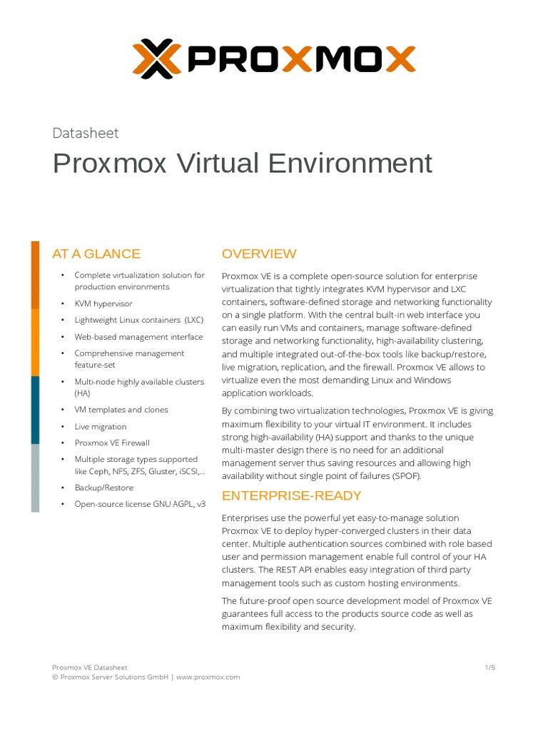 Proxmox Lxc