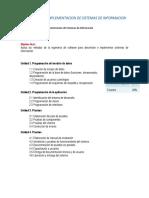 Temario. Desarrollo e Implementacion de Sistemas de Informacion