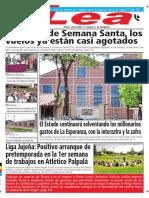 Periódico Lea Viernes 09 de Marzo Del 2018