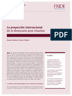 La Proyección Internacional de La Venezuela Post-chavista (Gratius y Romero)
