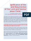Significance of Christ's Death and Resurrection