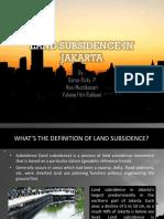 Land Subsidence in Jakarta