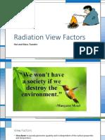 Radiation View Factors