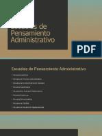 Escuelas de Pensamiento Administrativo