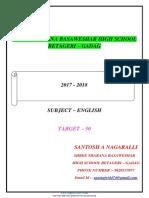 372959055621633732 10th Std 2nd Language English Passing Package Target-50 2017-18 Santosh a Nagaralli