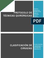 protocolo tecnicas quirurgicas