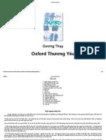 Oxford Thương Yêu - Dương Thuỵ