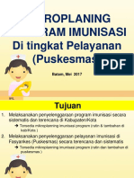 Mikroplaning Program Imunisasi Di Tingkat Pelayanan Puskesmas