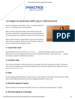 20 Ways to Practice With Your Metronome _ How to Practice