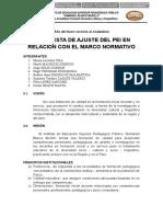 Actividad Grupal 1 Propuesta Ajuste Del PEI