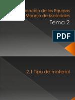Clasificacion de Los Equipos de Manejo de Materiales