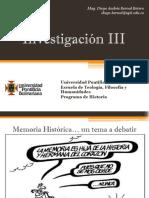 Unidad 2 Memoria Histórica - Investigación III