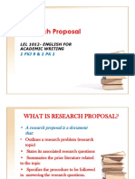 Lel 1012- Writing Research Proposal