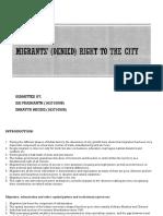 Urban Transformation - Migration