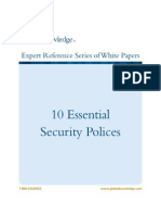 10 Essential Security Policies