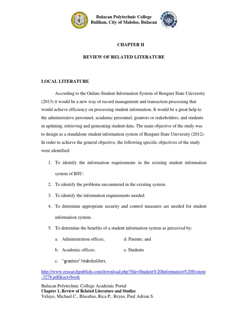 enrollment system thesis rrl