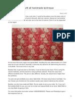 Batikdlidir.com-Batik Fabric Red With All Handmade Technique