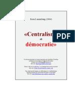 Centralisme et démocratie