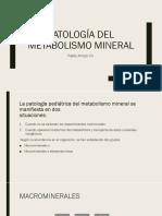 Patología Del Metabolismo Mineral