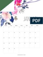 Floral Calendar 2018 With Website