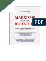 Marxisme contre dictature - préface 1