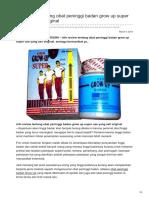 ulasan lengkap Obat Peninggi Badan Grow Up Super Use Yang Asli Original