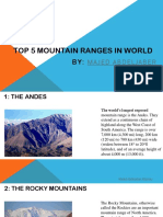 Longest Mountain Ranges in World by Majed Abdeljaber Attorney