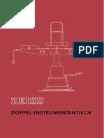 60-073-1 Doppel - Instrumententisch