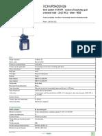 OsiSense XC Special Format_XCKVR54D2H29 Data Sheet