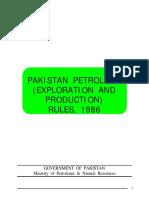Pakistan Petroleum Production Rules 1986