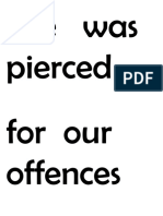He   was  pierced   for  our  offences and burdened with our sins.docx