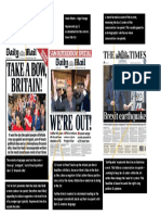 brexit newspaper annotations