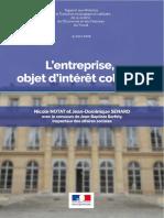 Rapport Notat / Sénard - L'entreprise, objet d'intérêt collectif