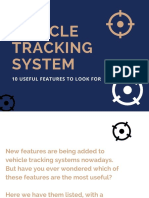 Vehicle Tracking System - 10 Useful Features to Look For