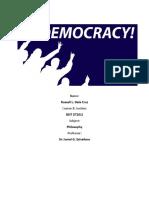 DELA CRUZ Philosophy of Democracy