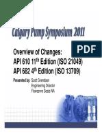Calgary Presentation API 610 and 682