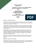 Ley 10081-83 Seccion III Codigo Rural