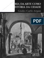 Argan - História da arte como história da cidade