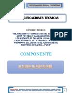 1.0especificaciones Tecnicas - Sistema de Agua Potable Alto Inambari- Comp 01