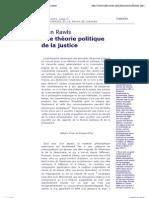 VIII. John Rawls, Une théorie politique de la justice