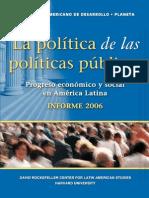 La Politica de Las Politicas Publicas - BID - 2006