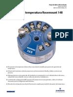 Transmisor de Temperatura Modelo 148 de Rosemount Es 89196