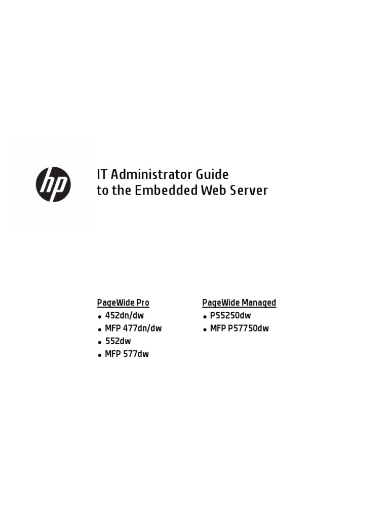 Hp 477dw Web Server | Web Page | Computer Network