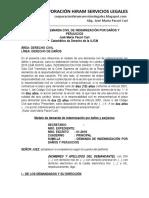 Modelo de Demanda Civil de Indemnizacion Por Danos y Perjuicios Jose Maria Pacori Cari