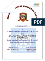 """an Analytical Study of Saving Scheme"" (3)"