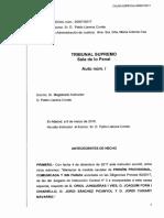 Auto del Tribunal Suprem que denega la llibertat a Jordi Sánchez