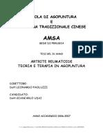USAI_Artrite Reumatoide in Agopuntura